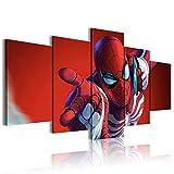 YYCHHHL Lot de 5 affiches d'art 3D sur toile - Motif Spiderman - 150 x 80 cm - Encadrées