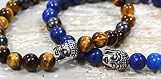 Zen-Z - Premium Karma Bracelets for Clarity, Grounding, Vitality and Wisdom (Premium Buddha - Lapis Lazuli, S/M - Upto 18 cm)