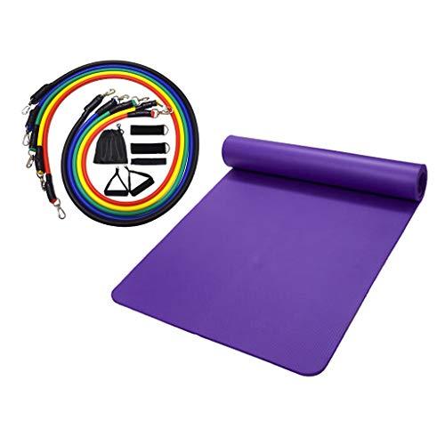 Nobranded Juego de Bandas de Resistencia de Yoga de 11 Piezas, Equipo de Ejercicio de Gimnasio en Casa Y Cojín para Estera de Yoga
