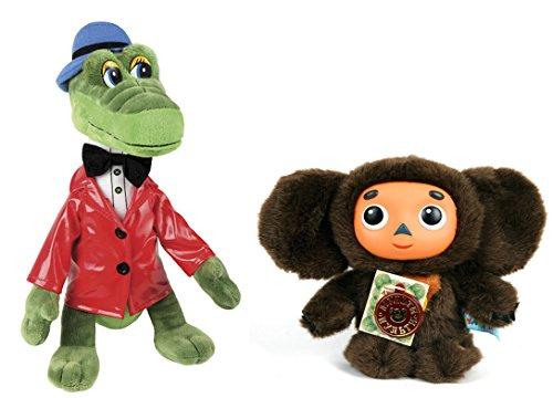 The Legendary Soviet brand of Russian Stuffed toy Cheburashka and his friend Crocodile Gena – Sojuzmultfilm