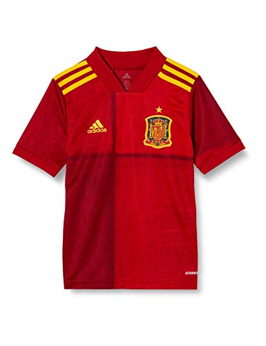 adidas Selección Española Temporada 2020/21 Camiseta Primera equipación, Unisex, Victory Red, 152