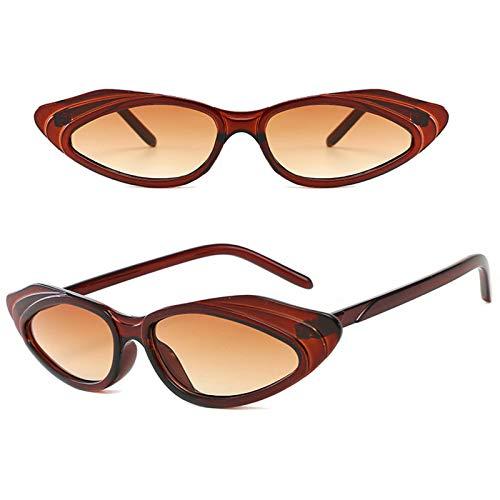 KHXJYC Gafas De Sol Ojo De Gato con Montura PequeñA De Tres Colores, Gafas De Sol Personalizadas, Gafas Salvajes De Moda, Utilizadas para Deportes Al Aire Libre, ConduccióN, Playa, Citas,#4