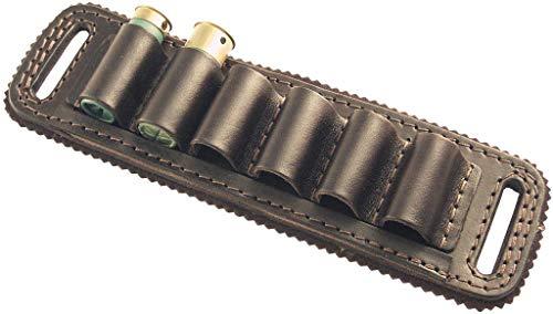 vsdfvsdfv Cartridge Belt Slide Pistol Ammunition Carrier Leather (Dark Brown, 357 and 38 Caliber)