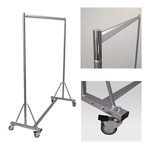 Stabiler Kleiderständer fahrbar für professionellen Einsatz auf Rollen 150cm 160kg rollbar
