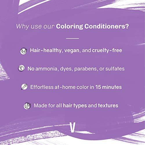 oVertone Haircare Vibrant Purple Coloring Conditioner | Gentle...