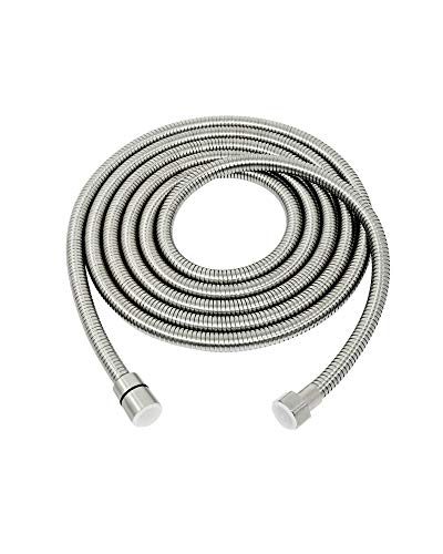 PHASAT Shower Hose,138 Inches Extra Long Shower Hose Replacement,304 Stainless Steel Shower Head Hose Extension Brushed Nickel,A3107N-3.5