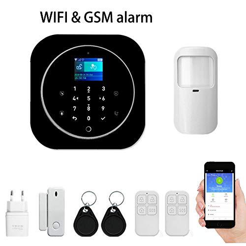 Sicurezza WIFI GSM Sistema di allarme intelligente Allarme 433 MHz Rivelatore Tuya APP Control Sistema di allarme wireless antimanomissione (KIT 2)