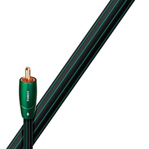 AudioQuest Coax Forest Koaxialkabel, schwarz, Länge: 0,75m, vergoldete Anschlüsse, 75Ohm