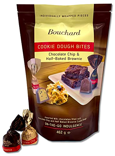 Bouchard Cookie Dough Bites | Mixed Bag | Chocolate Chip & Half-Baked Brownie (1 LB / 462 G)