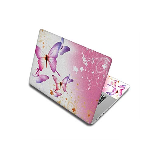 Peach-Girl Case for Lenovo/HP/Macbook/Dell, Laptop Sticker Butterfly 11.6 inch/12 inch/13.3 inch/14 inch/15.6 inch/17 inch - Self-Adhesive Laptop Skin - Other Size