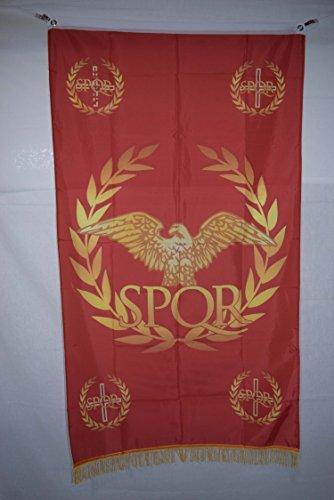 Apedes Westlichen Römischen Empire Senat & Menschen von Rom SPQR Geschichte Fransen Flagge Banner 3x 5