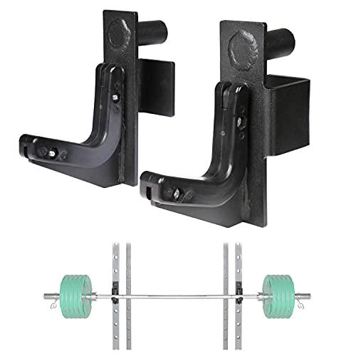 SYL Fitness J-Hooks - Soporte para mancuernas con gancho en J para Power Rack y Half Rack