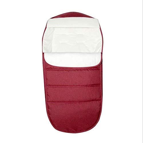 Eastery slaapzak, deken voor baby's, eenvoudige stijl, winddicht, thermisch, veelzijdig inzetbaar, met voetafdekking Size Rood