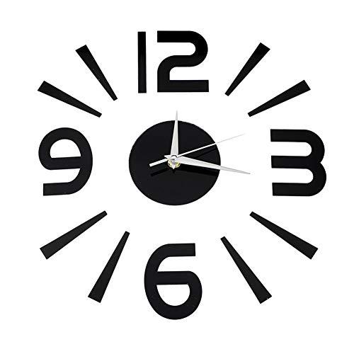 Fditt - Reloj de pared moderno con adhesivos 3D para decoración de...