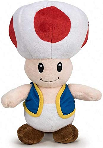 Super Mario Bros - Peluche Seta Toad 26cm Calidad Super Soft