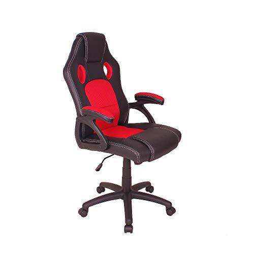 Cadeira Gamer Mag4 Reclinável com Base Giratória - Preto/vermelho