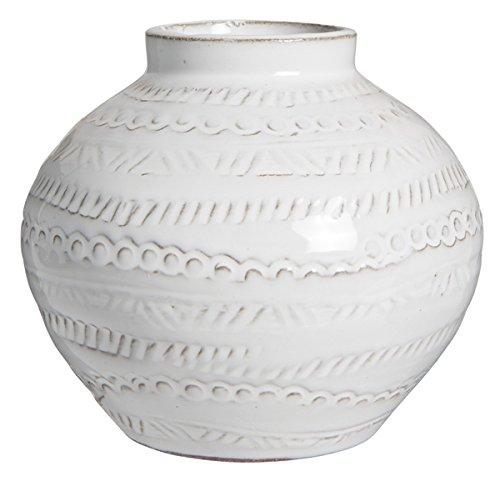 IB Laursen Kleine Vase Agra mit Muster, 12 cm, Weiß