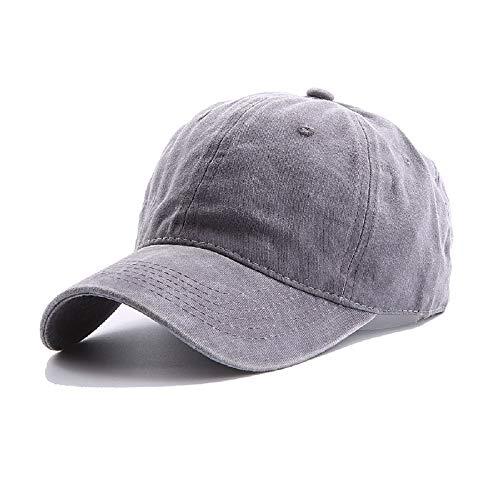 UTALY Kids Washed-Cotton Toddler-Boys Baseball Hats - Baby Girls Boys Distressed Baseball Cap Adjustable (Grey, 2-7Years)