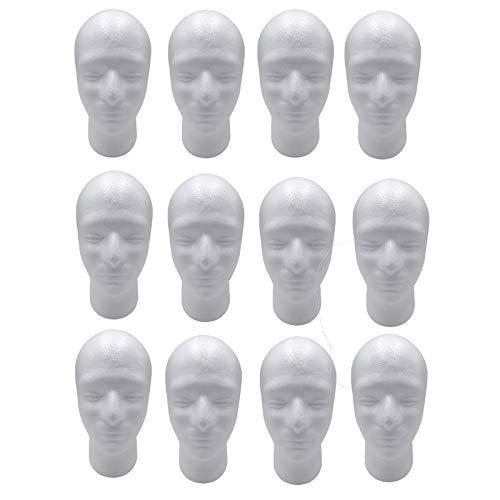 Harilla 12x52cm Cabeza de Maniquí Masculino Maniquí Postizos Peluca Soporte de Exhibición Inicio