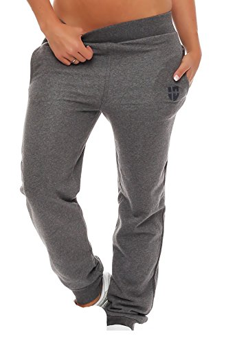 Gennadi Hoppe Damen Jogginghose Trainingshose Sweat Pants Sporthose Fitness Hose,grau,Medium