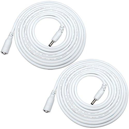 Liwinting 2 Piezas 5m DC Cable de Extensión de Alimentació