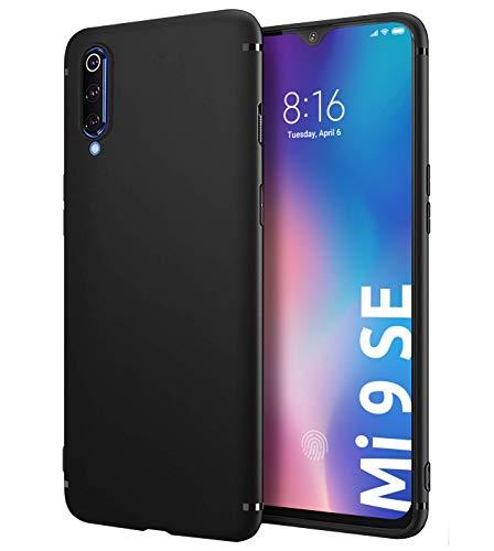 Schutzhülle Slim-Hülle kompatibel mit Xiaomi Mi 9 SE in Matt-Schwarz [Handyhülle aus Silikon] Premium Soft TPU Cover, Schützt vor Kratzer & Stößen, Schutz-Hülle hinten, Präzise Ausschnitte