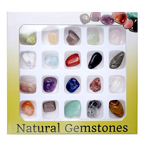 Jovivi 20 Gemstones Chakra Stone Healing Balancing Kit For Collectors, Crystal &Amp; Reiki Healers And Yoga Practioner
