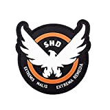 Morton Home Airsoft -Game -Cosplay The Division SHD Rubber 3D PVC Badge MORCLA Patch (Special-Shaped)