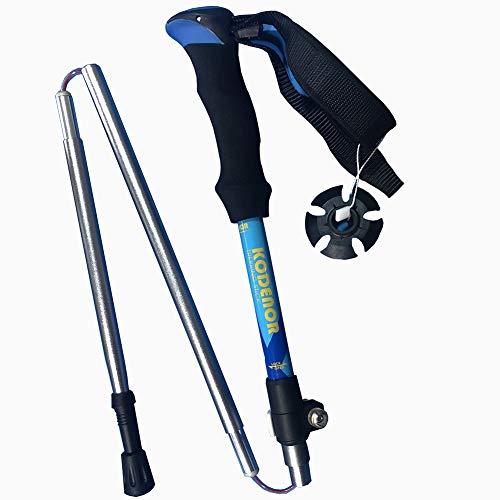 KODENOR Collapsible Lightweight Trekking Poles Adjustable Aluminum Telescopic Hiking Pole or Walking Sticks with Ergonomic Grip