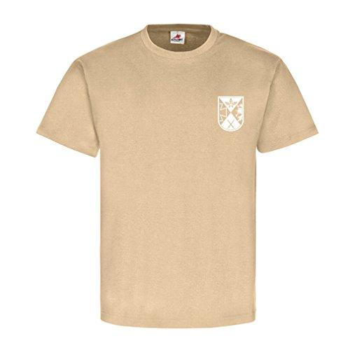 PzGrenBtl 908 Panzer Grenadiere Bataillon 1. Reserve - T Shirt #8607, Farbe:Sand, Größe:Herren L