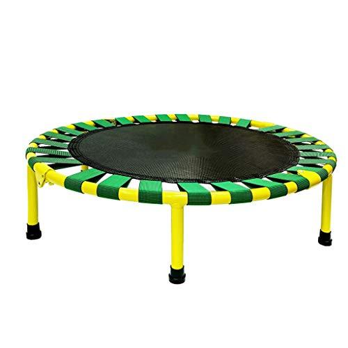 Opvouwbare zeshoek vast centrum van zwaartekracht Stabiele anti-slip mute ronde trampoline, volwassenen Gym Thuis bounce bed