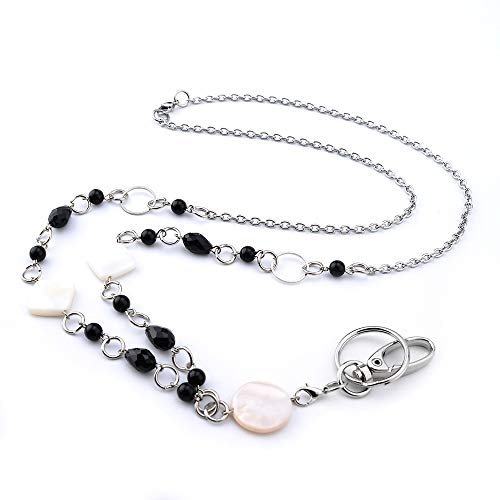 LUXIANDA Different Shapes Lanyard Necklaces Badge Holder Name Lanyards for Women Stainless Steel Chain