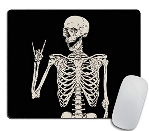 Skull Human Skeleton Mouse pad,Human Skeleton Posing Isolated Over Black Background Mouse pad 9.5 X 7.9 Inch (240mmX200mmX3mm)