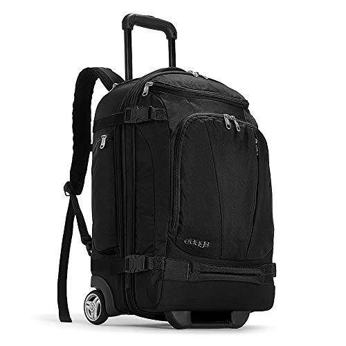 eBags TLS Mother Lode Rolling Weekender 22 Inch Travel Backpack with Wheels - Carry-On - (Black)
