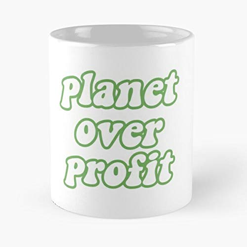 Change Profit Over Global Seas Contaminación Calentamiento Tierra Planeta Ahorre Clima Política Our Eat Food Bite John Best Taza de café de cerámica de 325 ml
