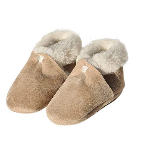 Hollert Baby Lammfellschuhe Balu Krabbelschuhe warme Schuhe aus Merino Fell Echtleder Schuhgröße 18
