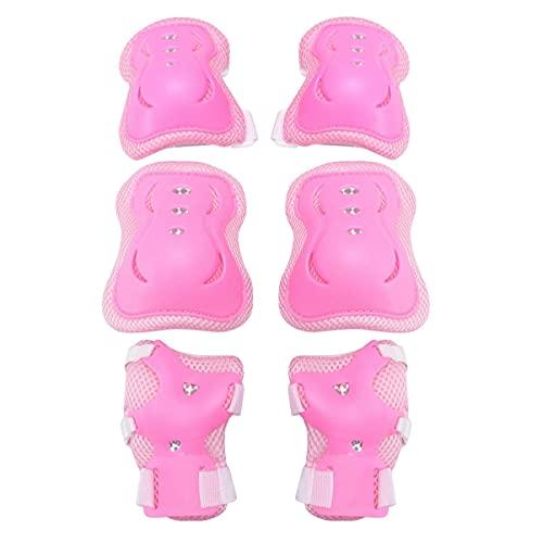 Conjuntos de protectores de patines de rodillos, 6pcs rodilleras almohadillas de codo guardias de muñeca conjunto de engranajes protectores Patinaje de ciclismo Protectores deportivos Protectores para