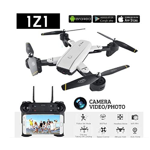 Izi SG700 RC 2 MP Dual HD Camera Quadcopter Drone with Optical Sensors and Remote Controller