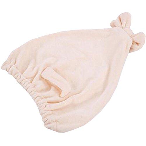 Trockenes Haar Cap Duschhaube Female trockenes Haar-Tuch Cremewei?