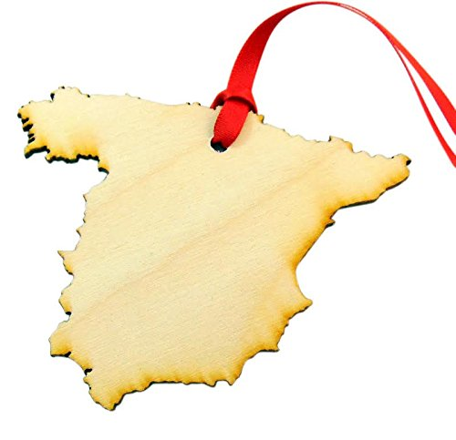 Westman Works Spain España Wooden Country Christmas Ornament Spanish Decoration Handmade in The U.S.A.