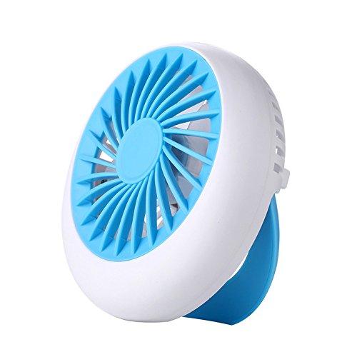 RTRY Mini Ventilatore Mini Ricarica Mini Usb Ventilatore Rotondo Ventilatore Portatile 12,5*12.5Cm