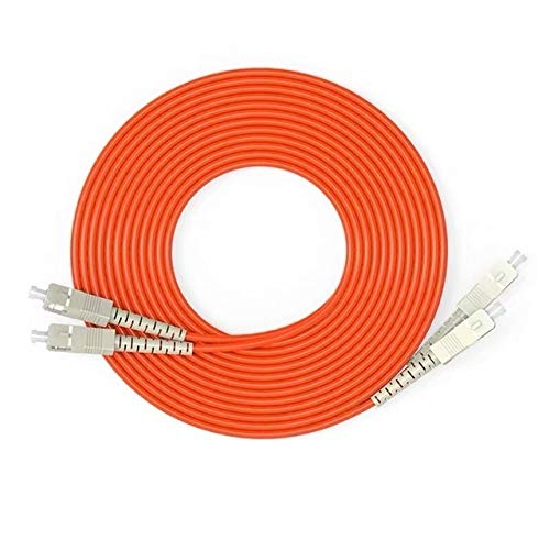 without FMN-HOME, Glasfaser-Patchkabel, 1 m, 2 m, 3 m, 5 m, 10 m, Duplex-Multimode-Kabel SC/UPC-SC/UPC Lichtwellenleiter, Jumper (Größe: 1 m)