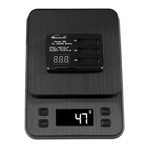 IPOTCH 3 en 1 Cargador de Batería de Cámara Universal de Anexo Electrónico