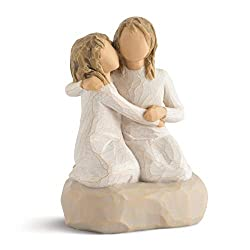Sentiment: Nothing comes close to the closeness of sisters written on enclosure card 4 Inch hand-painted resin figure; ready to display on a shelf, table or mantel; to clean, dust with soft brush or cloth. Avoid water or cleaning solvents. A gift to ...