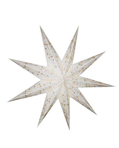 Sonia Originelli Leuchtstern Stern Laterne Licht Sternlampe Leuchte Lampion Weihnachtsstern Papierstern Fenster Dekoration Weihnachten WS005-Los Angeles (Weiß)