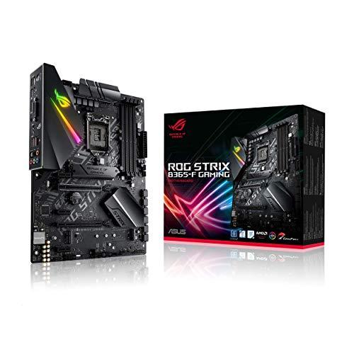 ASUS ROG Strix B365-F Gaming Support 9th/8th Gen Intel Processor with Aura Sync RGB, Dual M.2, DisplayPort, HDMI, DVI, SATA 6 Gbps and USB 3.1 Gen 2 ATX Gaming Motherboard