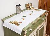 Kamaca Kit de punto de cruz de 40 x 100 cm, diseño de erizo en el bosque, camino de mesa de 40 x 100 cm