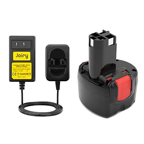 Joiry 9.6V 3.5Ah Ni-MH Ersatzakku mit Ladegerät für Bosch PSR 960 BAT048 BAT100 BAT119 2607335272 2607335461 Gsr 9.6VE-2 PSR 9.6VE-2 PSR960 23609 32609-RT