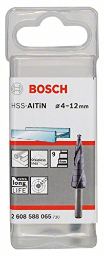 Bosch 2608588065 - Punta a gradini HSS-AlTiN 4-12 mm 9 gradini