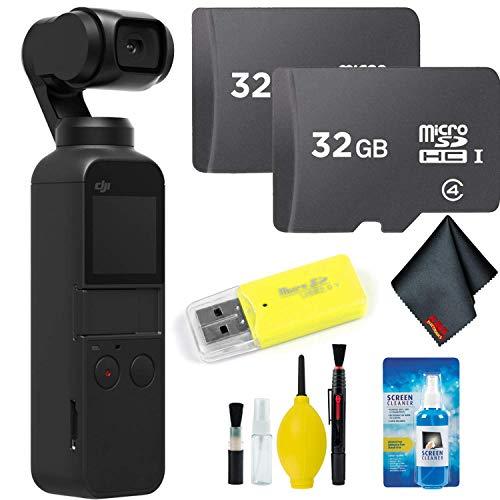 DJI Osmo Pocket Gimbal + Essential Accessories + 64GB Memory Card